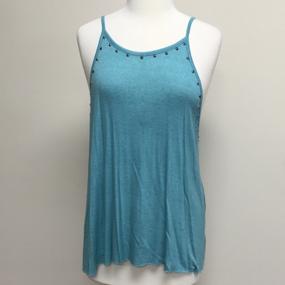 Vocal Tops - NWT Vocal Spaghetti Strap Top Blue Made in USA.